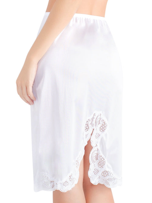 Lace Trim Skirt with Slit Slip 2011