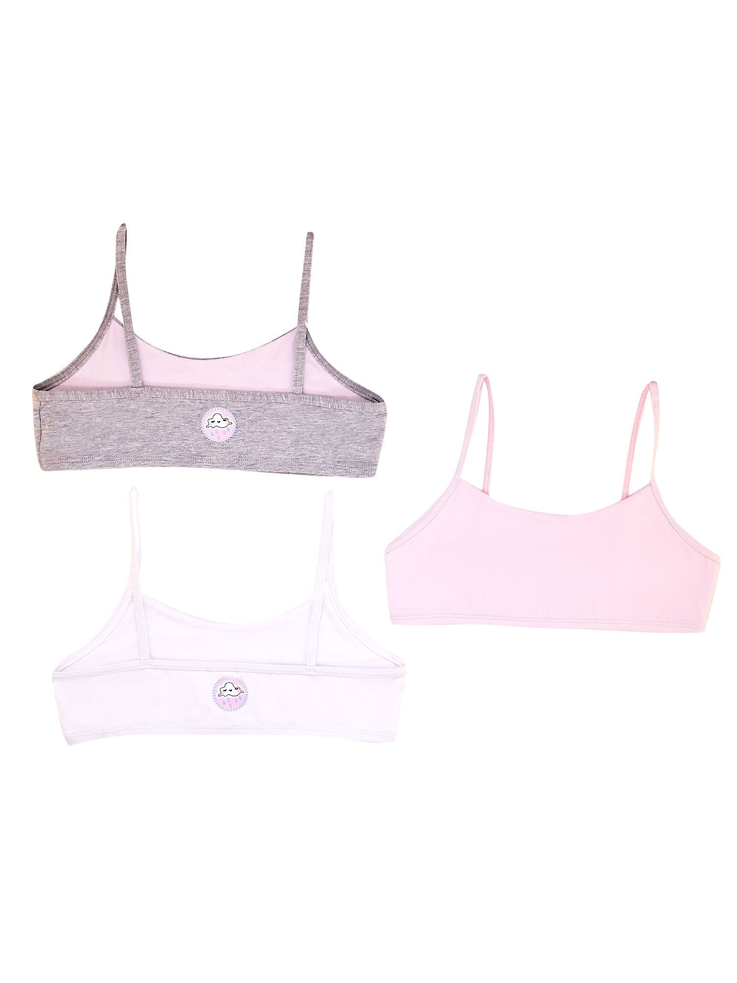 Girls 3 Pack Bralettes 34583