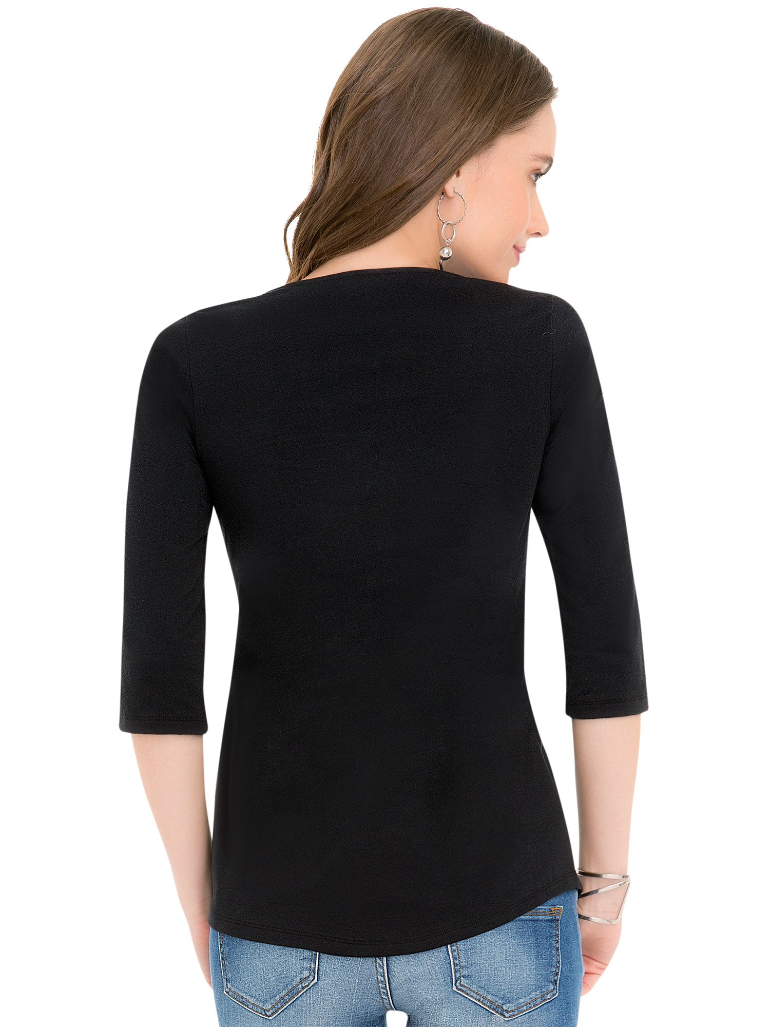 String Cross 3/4 Sleeve Top 43934