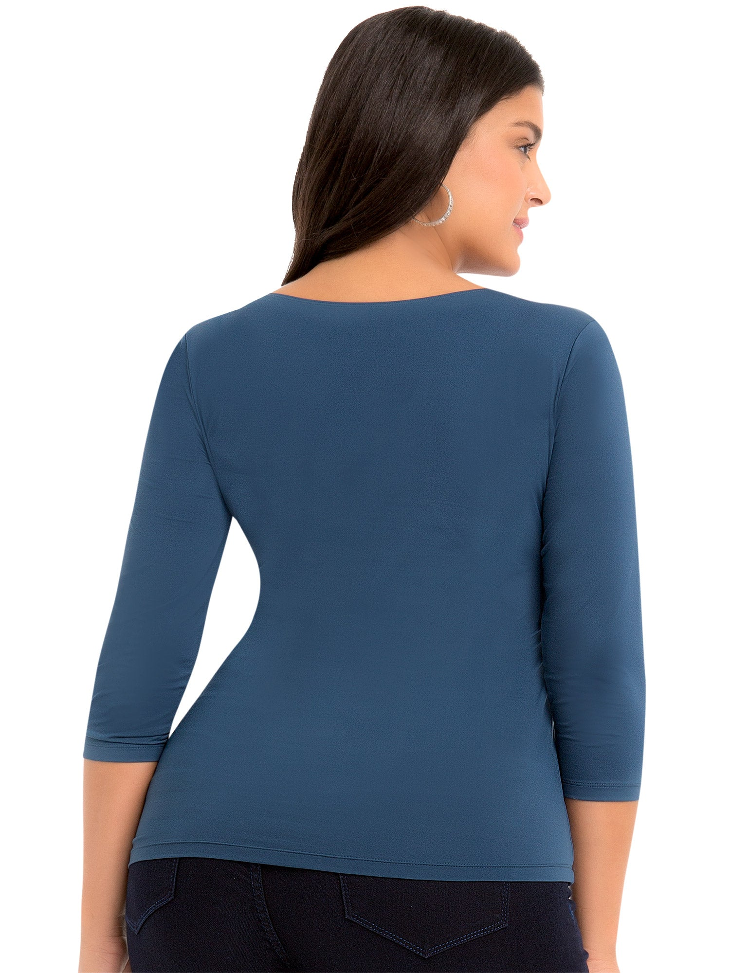 Super Smooth 3/4 Sleeve Top 4423