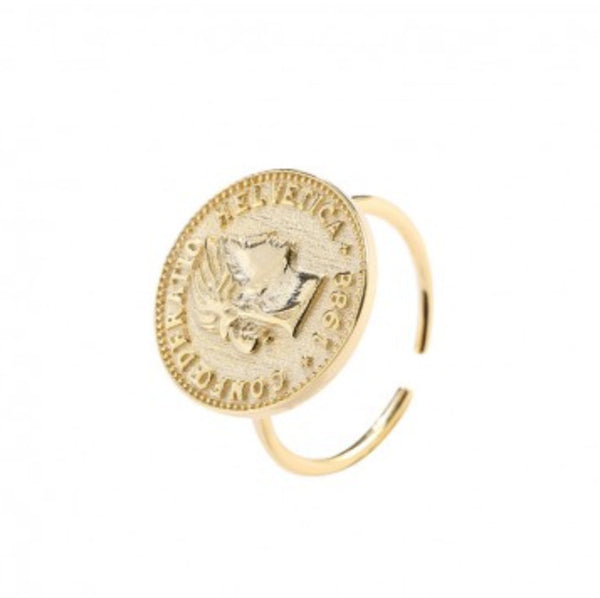 Gold Portrait Coin Ring
