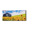Sunflowers Panoramic - College Wall Art#Canvas