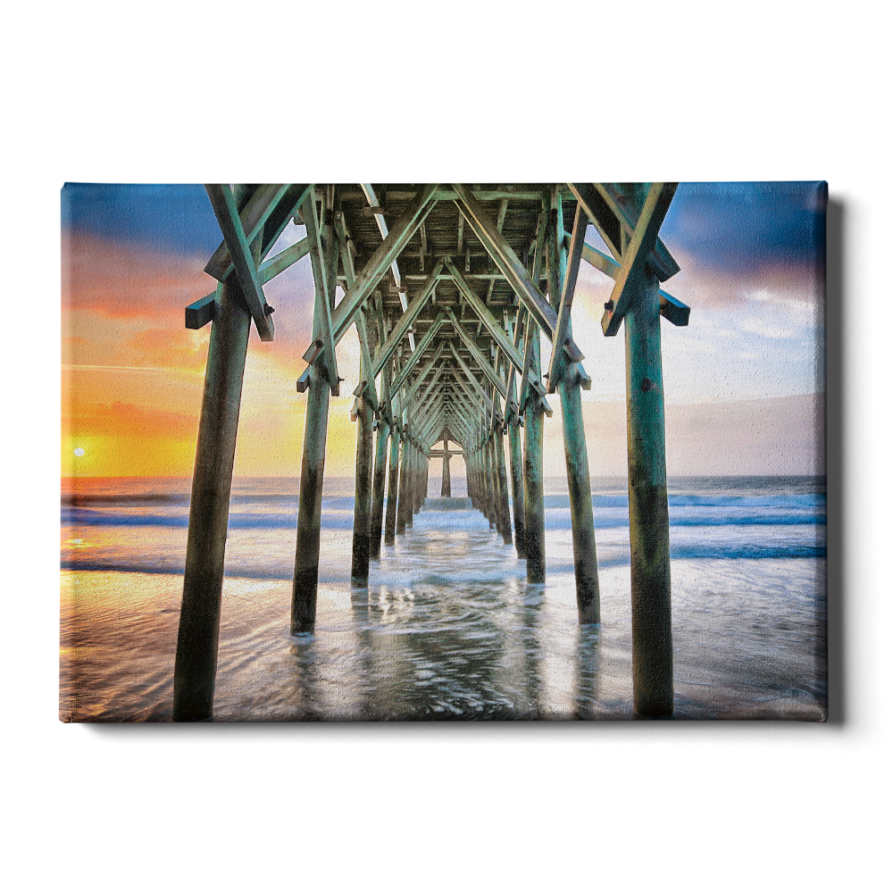 Pier Sunset - College Wall Art