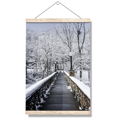 Winter Bridge - College Wall Art#Hanging Canvas