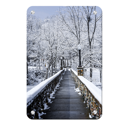 Winter Bridge - College Wall Art#Metal
