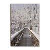 Winter Bridge - College Wall Art#Wood