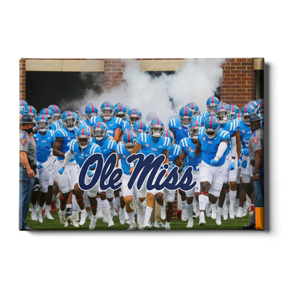 Ole Miss Rebels - Powder Blue #Canvas