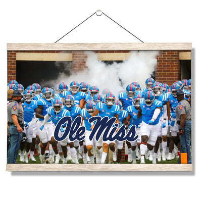 Ole Miss Rebels - Powder Blue #Hanging Canvas