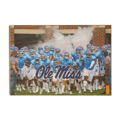 Ole Miss Rebels - Powder Blue #Wood