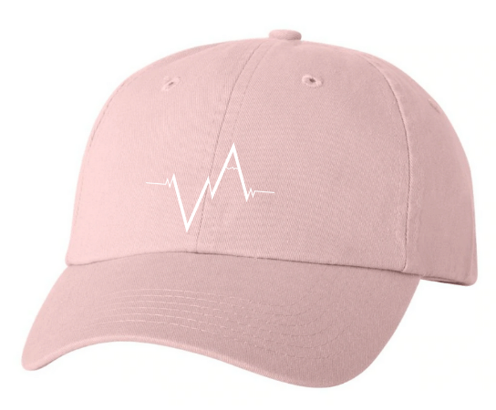 Light Pink Dad Hat Heartbeat