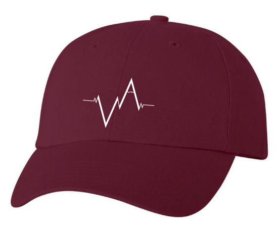 Maroon Dad Hat Heartbeat