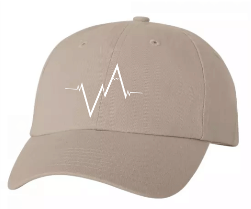 Khaki Dad Hat Heartbeat