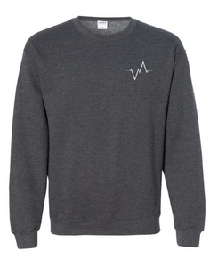 Crewneck, Embroidered Heartbeat | Unisex | Vancouver Apparel