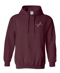 Hoodie, Embroidered Heartbeat | Unisex | Vancouver Apparel
