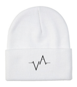 Toque, Embroidered Heartbeat.