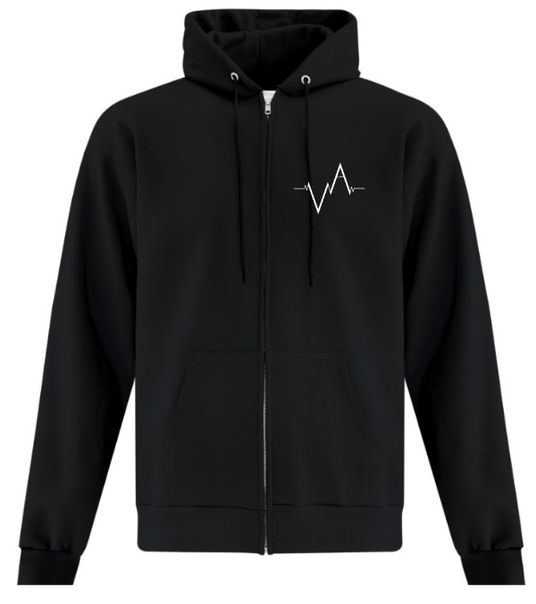 The Zip Up Hoodie, Heartbeat | Unisex | Vancouver Apparel