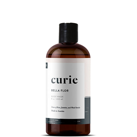 Paraben free, sulfate free, non-toxic body wash from Curie. Made with our signature artisan fragrance, Bella Flor.