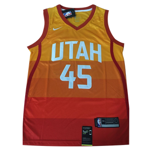 check out ae988 b3ebe Camisa Utah Jazz City Edition Donovan Mitchell #45