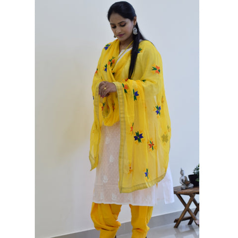 Patiala salwar and Phulkari dupatta