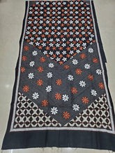 Load image into Gallery viewer, Pure kantha stitch cotton dupatta - Black