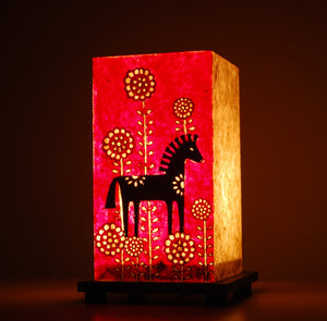 Handcrafted Table Lamp - Elephants - LS06 - Phulari