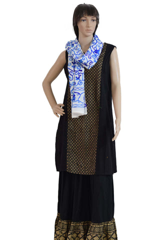 Suzani Embroidered Cotton Stole (SE01) - Phulari