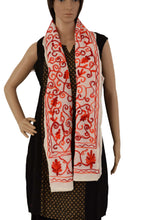 Load image into Gallery viewer, Suzani Embroidered Cotton Stole (SE01) - Phulari