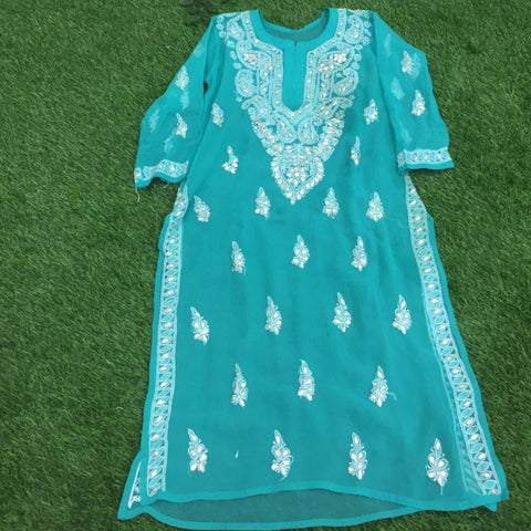 Chikankari Georgette Kurta with Gota work