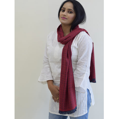 Pashmina Fine Wool Unisex Stole - Various Colors