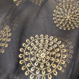 Organza Embroidered Dupatta- Black