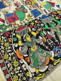 Mangalgiri Cotton Hand-painted Pen Kalamkari Dupatta - Off White
