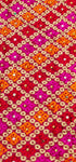 Phulkari Machine-Embroidered Chinnon Dupatta - Multicolor6