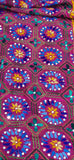 Chanderi Hand Embroidered Dupatta - Jhallar - Plum