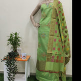 Banarasi Unstitched Cotton Suit Fabric - Green