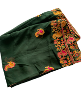 Load image into Gallery viewer, Georgette Kashmiri Embroidered Ari Work Dupatta - Black (Various Colors)