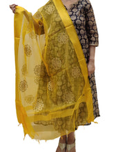 Load image into Gallery viewer, Organza Embroidered Dupatta- Yellow