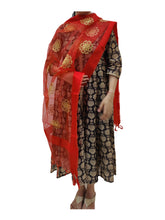 Load image into Gallery viewer, Organza Embroidered Dupatta- Red