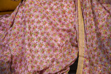 Load image into Gallery viewer, Chiffon Kanchan Phulkari With Multicolour Thread Lehenga Set - Made to Order