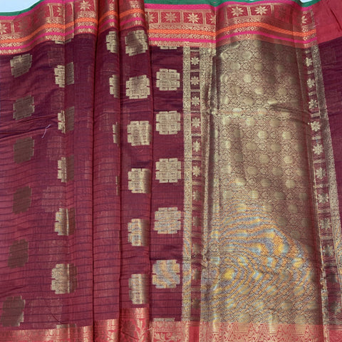 Banarasi Cotton Saree Large Border - BA006 - Phulari