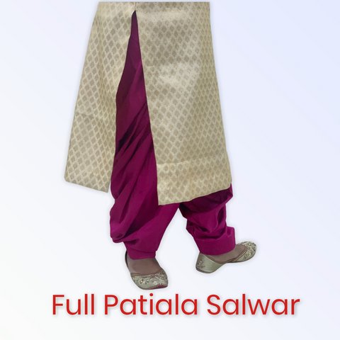 Glace cotton full patiala salwar (Custom colors available)