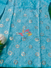 Load image into Gallery viewer, Gota Chikankari Cotton Kurti - Sky Blue - Phulari