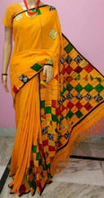 Load image into Gallery viewer, Khesh Cotton With Appliqué  Boul Patch Work saree – Various Colours
