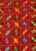 Load image into Gallery viewer, Heavy Phulkari Chinnon Dupatta - Red - Phulari
