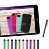 Colorful Long Metal Capacitive Stylus Pens [Universal] Compatible with All Touch Screen Devices [Assorted Colors]