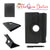 iPad Mini 1 2 3 Solid Black PU Leather Case with 360 Degree Rotation + Scree