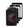 iPad Air 1 Black Rugged 360 Rotation Case with Leather Hand Strap
