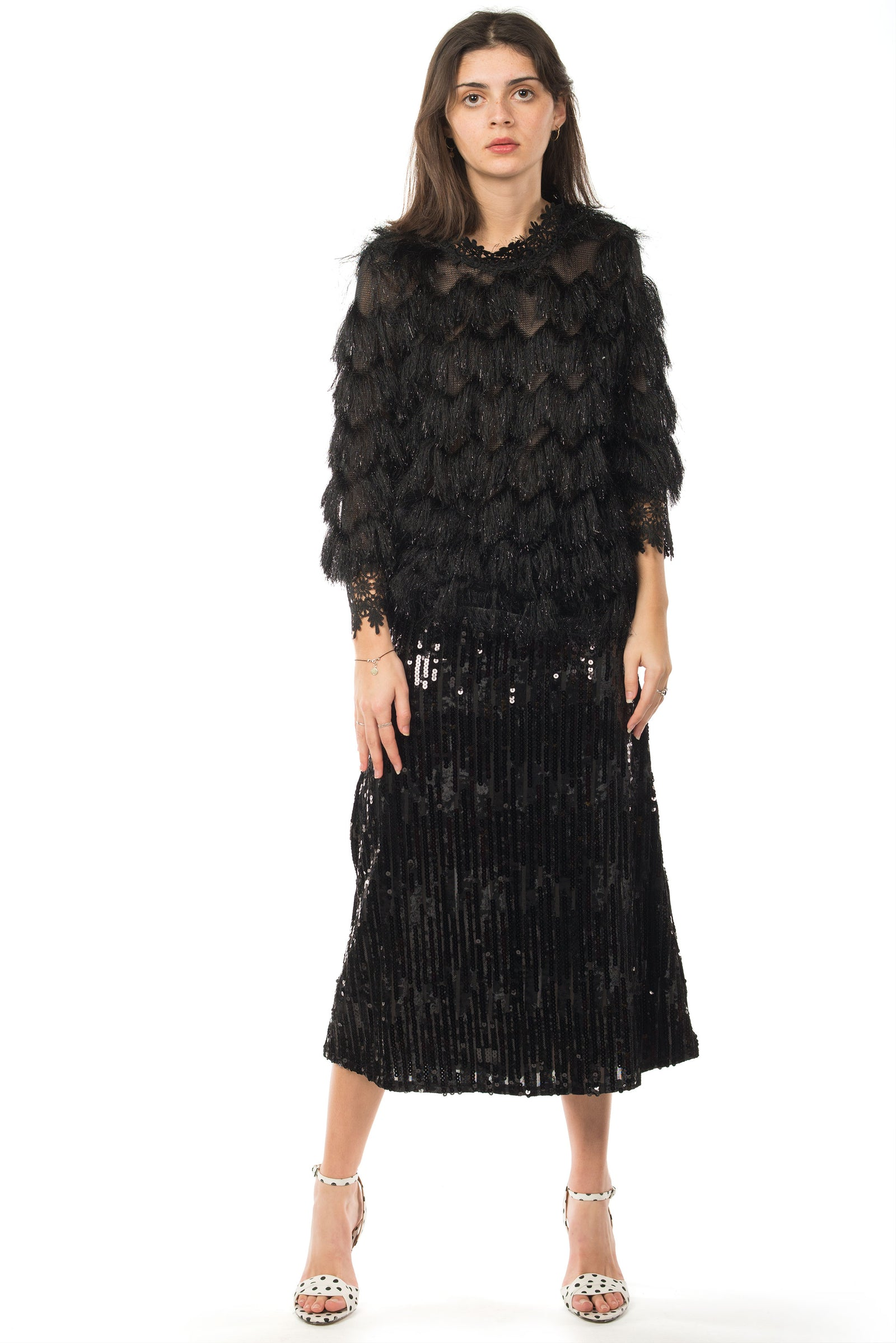3a58f62ddc0 FRINGE LAYERED BLACK TOP - PLAY MORE HAUS