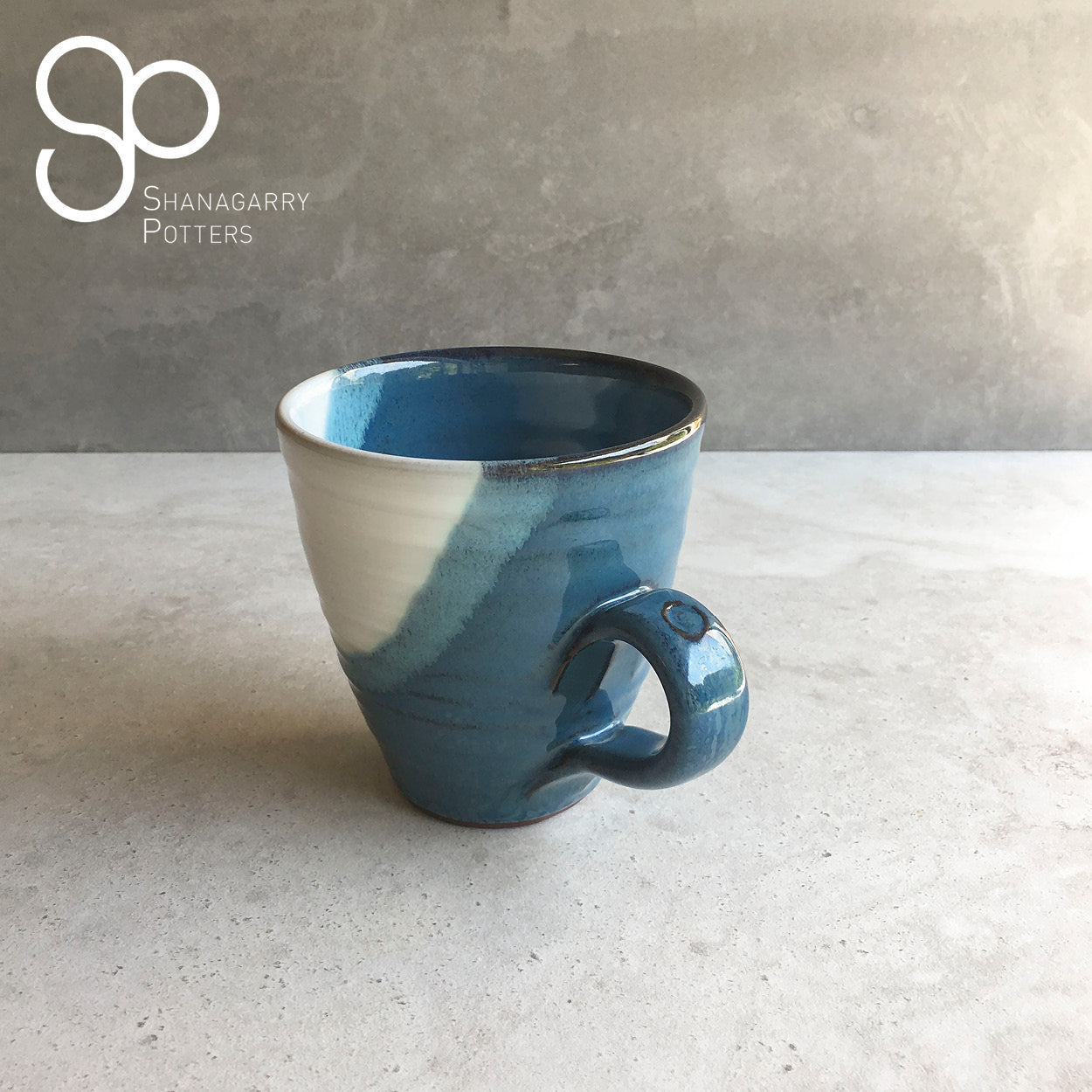 Atlantic Wave Curved Mug