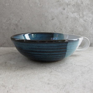 Atlantic Wave Handled Dessert Bowl