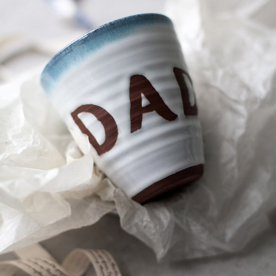 DAD Atlantic Wave Personalised Curved Mug